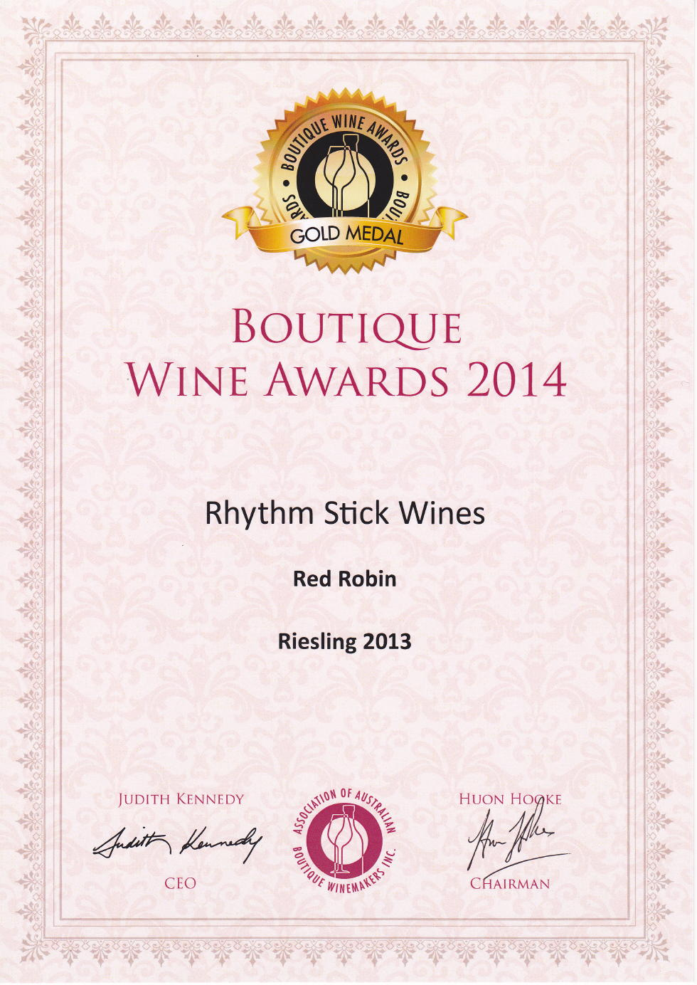2014 Boutique Wine Awards