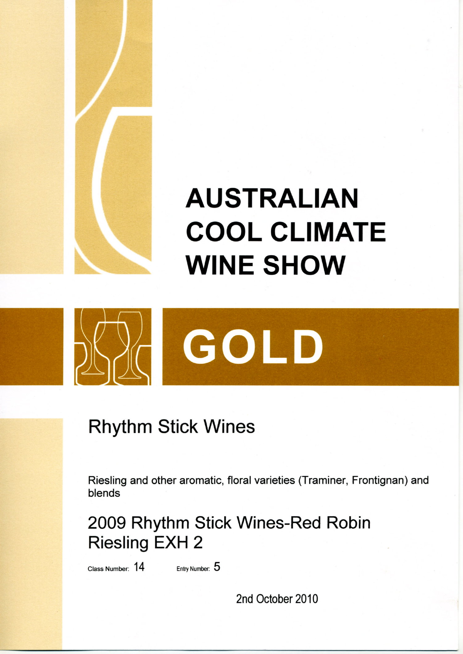 2010 Australian Cool Climate Wine Awards