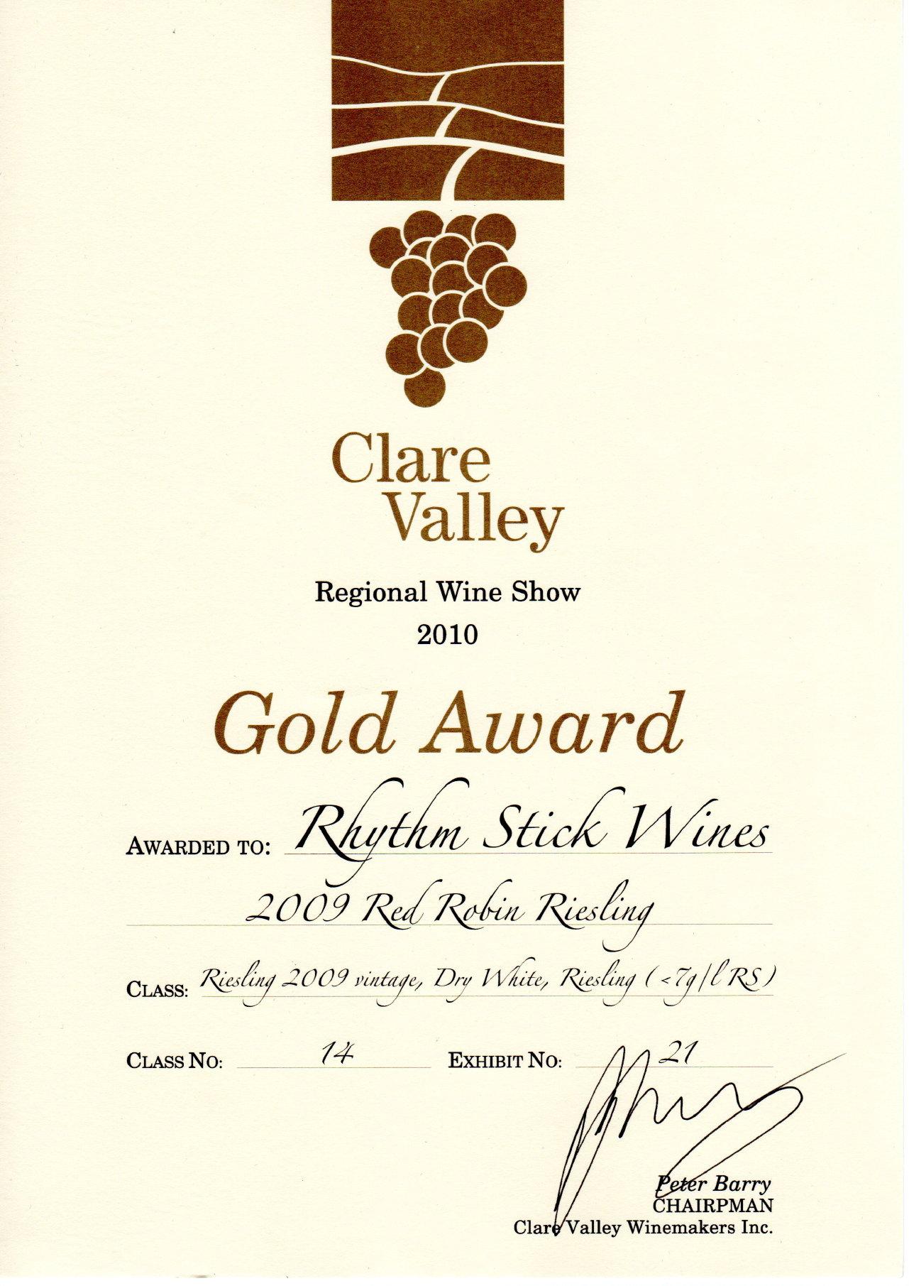 2010 Clare Valley Wine Show