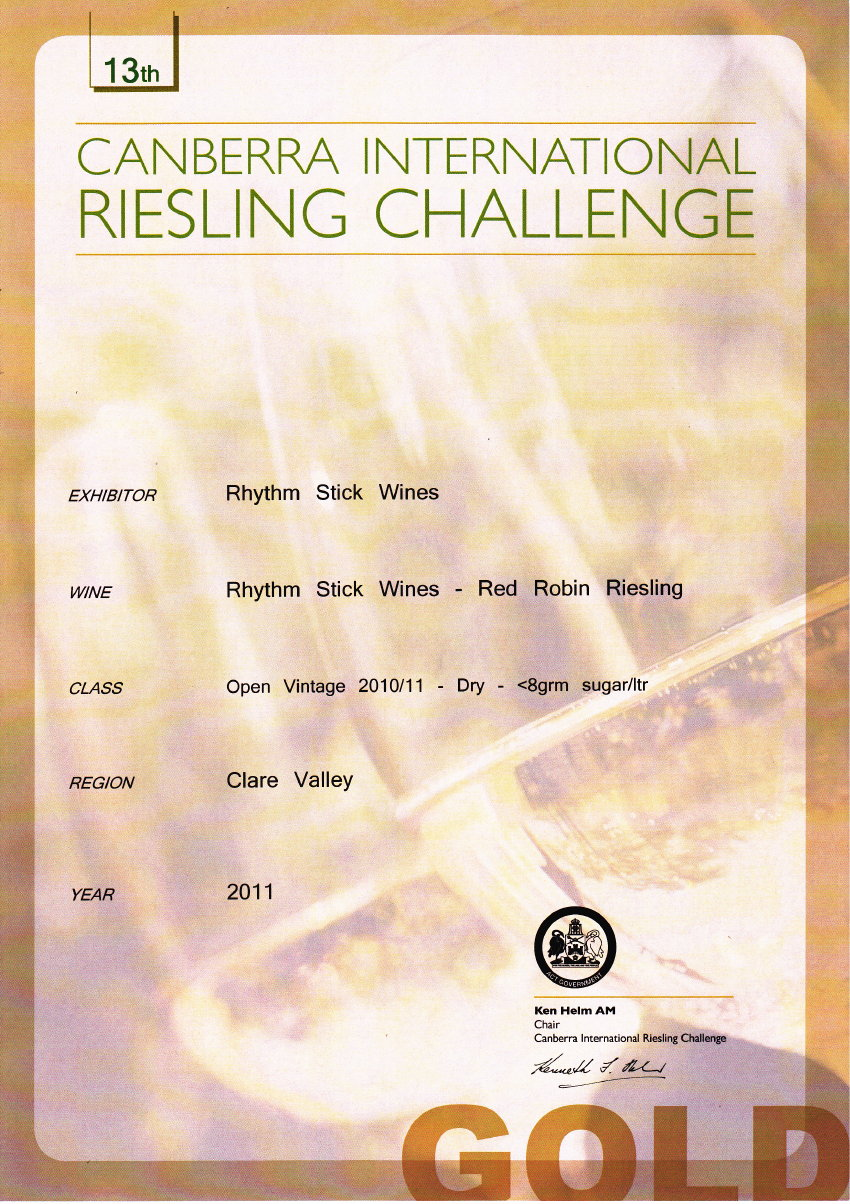 2012 Canberra International Riesling Challenge