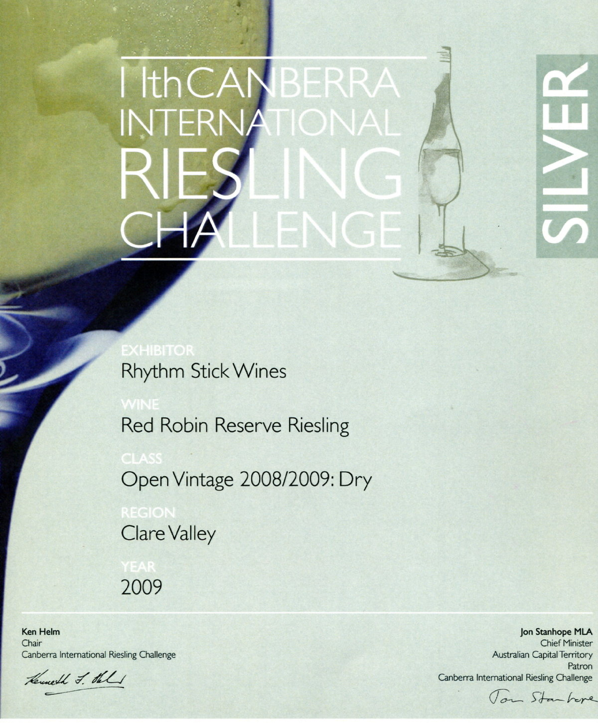2009 Canberra International Riesling Challenge
